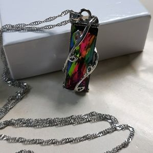 Mystic Rainbow Pendant and Necklace